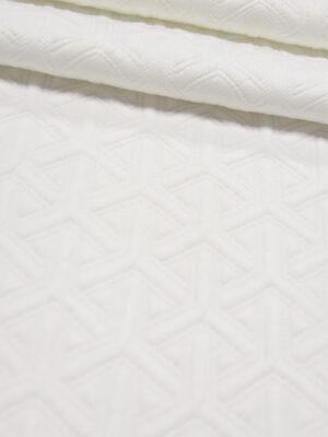 Джерси белый с объемным рисунком (4352) - Фото 12