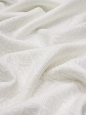 Джерси белый с объемным рисунком (4352) - Фото 11