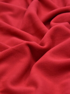 Футер трикотаж стрейч мягкий фактурный цвет красный (4357) - Фото 13