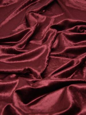 Бархат стрейч бордовый марсала (4360) - Фото 20