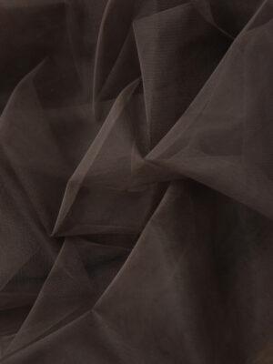 Фатин сетка тонкая легкая мягкая цвет коричневый (4413) - Фото 10