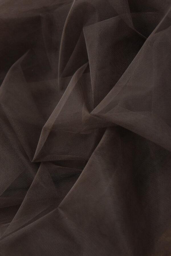 Фатин сетка тонкая легкая мягкая цвет коричневый (4413) - Фото 7