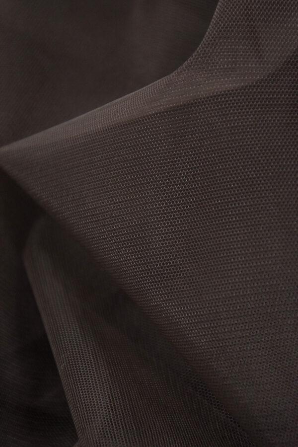Фатин сетка тонкая легкая мягкая цвет коричневый (4413) - Фото 8