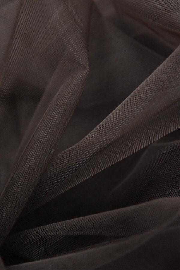 Фатин сетка тонкая легкая мягкая цвет коричневый (4413) - Фото 6
