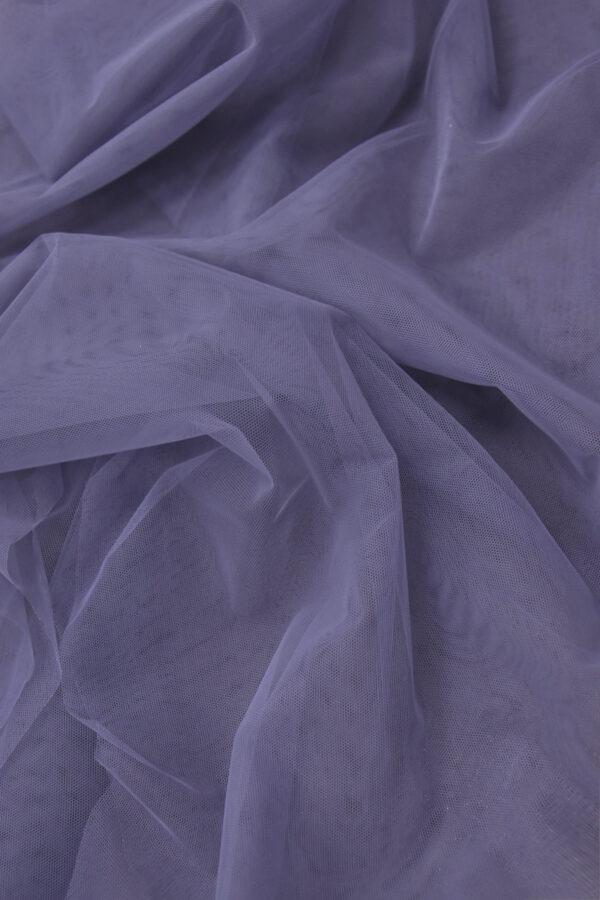 Фатин сетка цвет серо-сиреневый (4414) - Фото 6