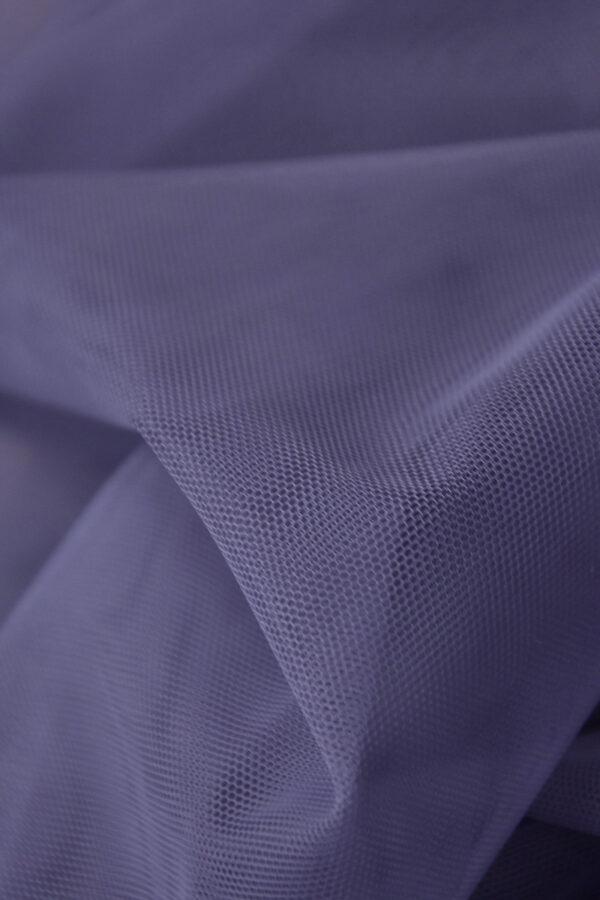 Фатин сетка цвет серо-сиреневый (4414) - Фото 7