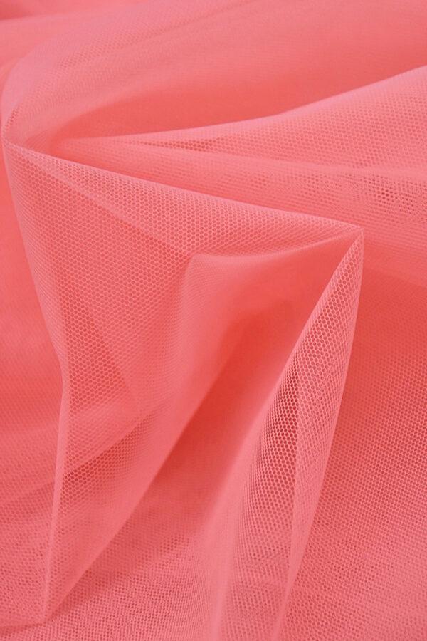 Фатин сетка тонкая легкая мягкая цвет розовый (4415) - Фото 8