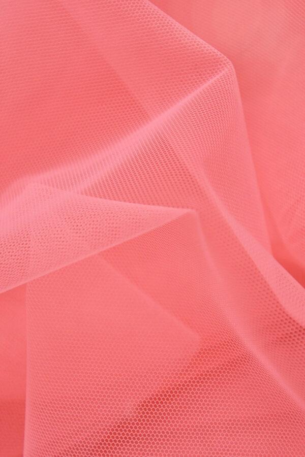 Фатин сетка тонкая легкая мягкая цвет розовый (4415) - Фото 6