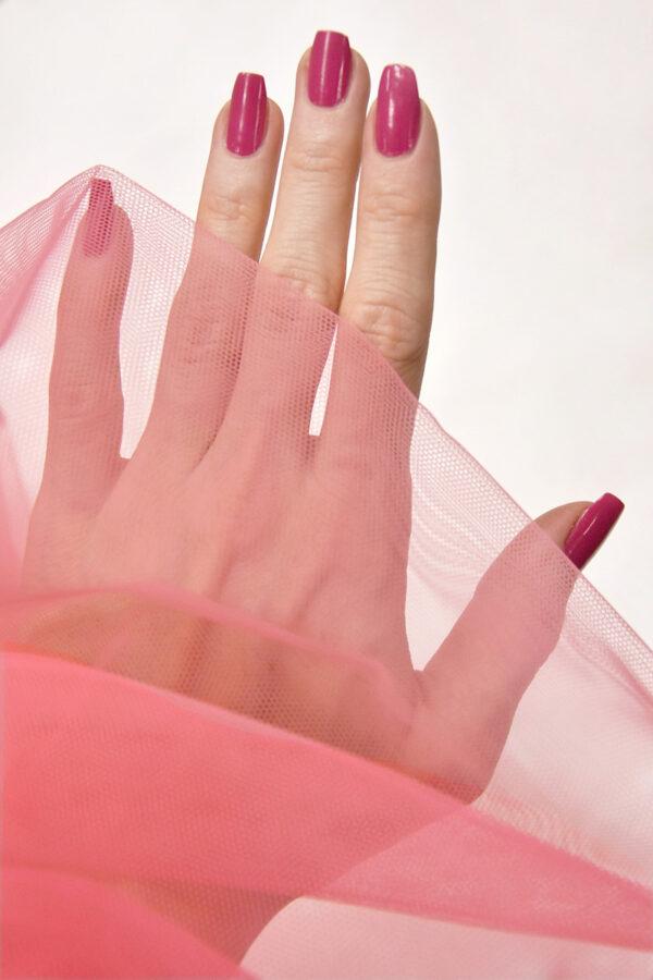 Фатин сетка тонкая легкая мягкая цвет розовый (4415) - Фото 9