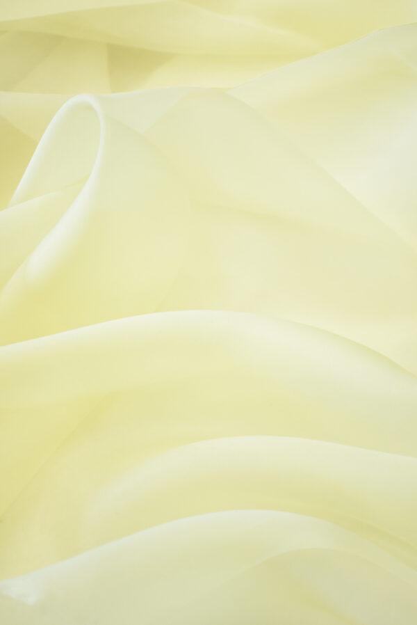Органза шелк оттенок ваниль (4421) - Фото 6