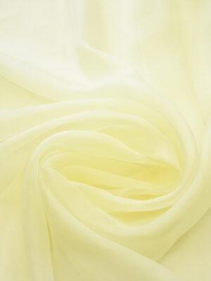 Органза шелк оттенок ваниль (4421) - Фото 11