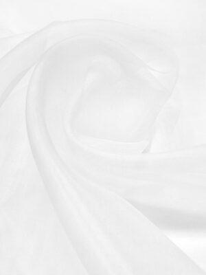 Органза белая тонкая плательная (4425) - Фото 17