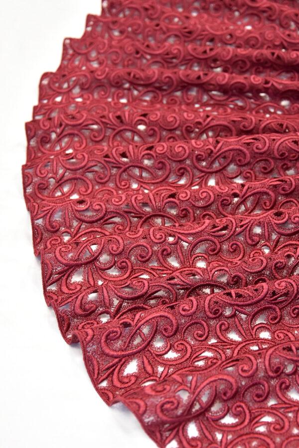 Кружево макраме бордовое (4431) - Фото 9
