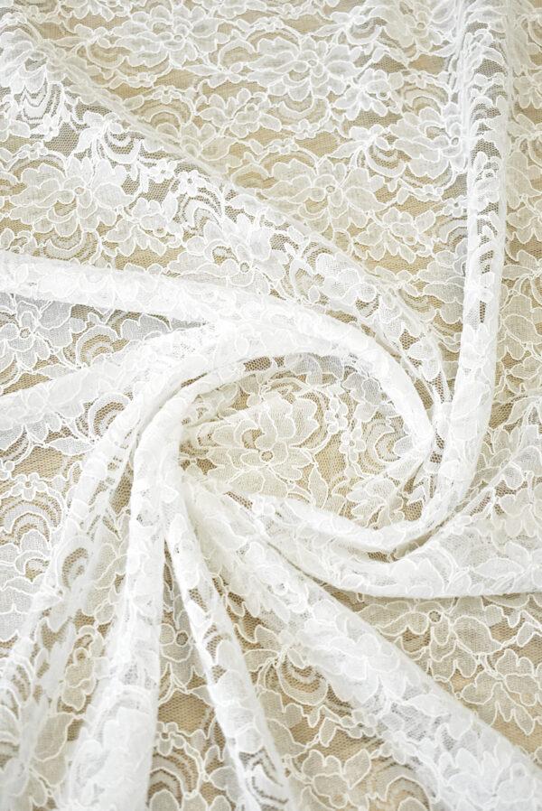 Кружево белое сутажное с цветочным узором (4462) - Фото 8