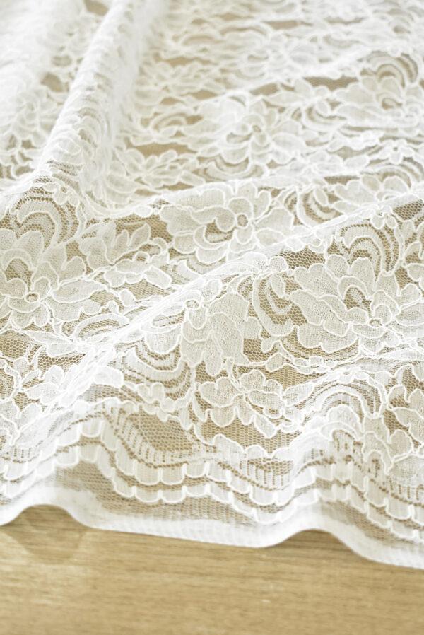 Кружево белое сутажное с цветочным узором (4462) - Фото 7