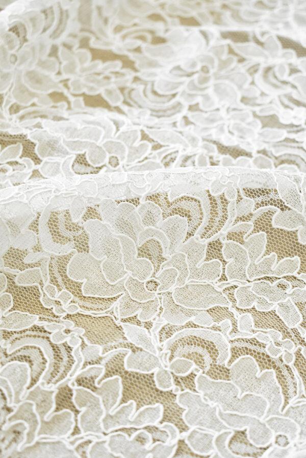Кружево белое сутажное с цветочным узором (4462) - Фото 9