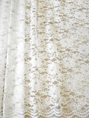Кружево белое сутажное с цветочным узором (4462) - Фото 17