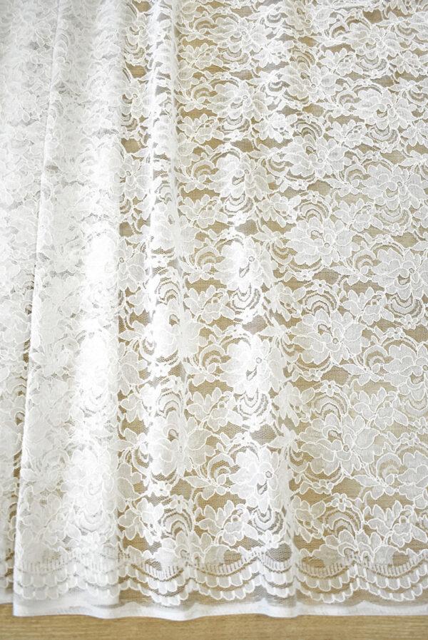 Кружево белое сутажное с цветочным узором (4462) - Фото 6