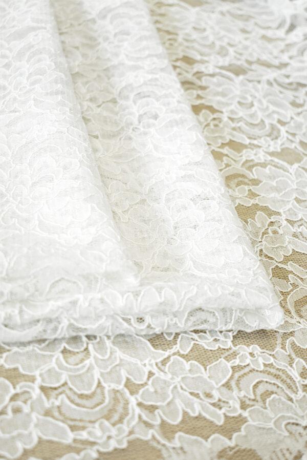 Кружево белое сутажное с цветочным узором (4462) - Фото 10