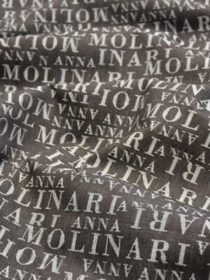 Джинс коричневый надписи (4467) - Фото 14
