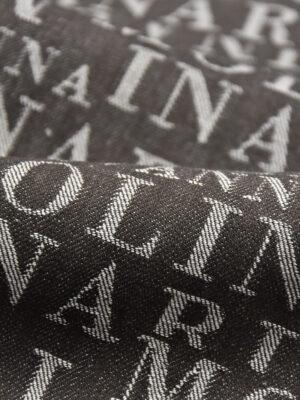 Джинс коричневый надписи (4467) - Фото 15