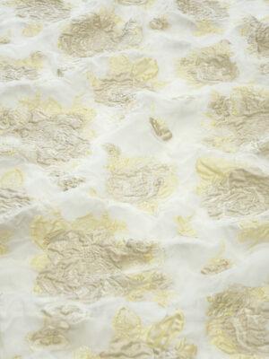 Органза шелк вышивка кремовые цветы на молочном (4500) - Фото 14