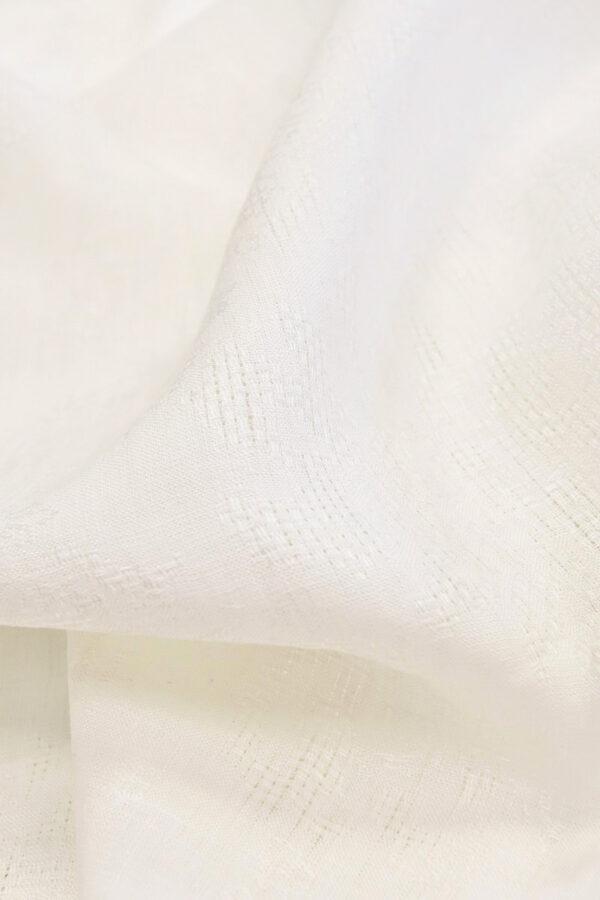 Лен с вышивкой молочный (4514) - Фото 8