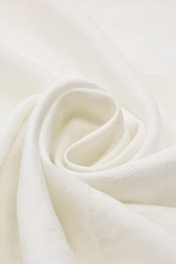 Лен с вышивкой молочный (4514) - Фото 7