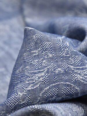 Лен синий меланж с вышивкой (4515) - Фото 16