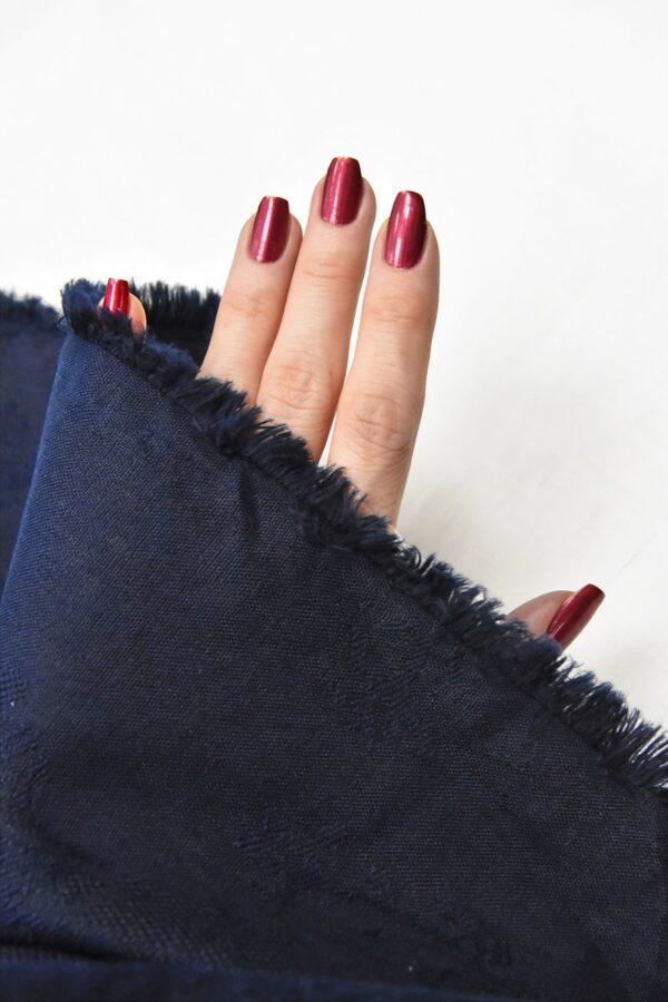 Лен с вышивкой темно-синий (4516) - Фото 9