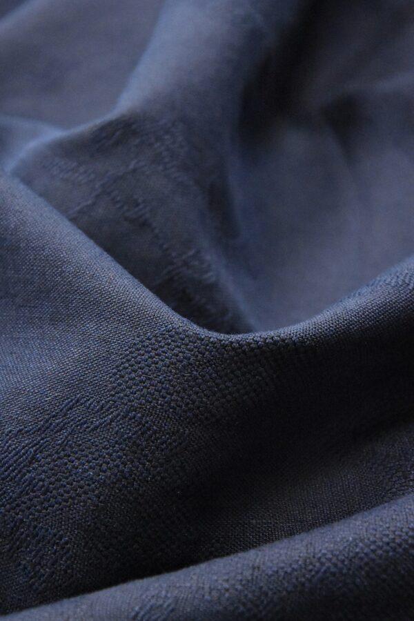 Лен с вышивкой темно-синий (4516) - Фото 7