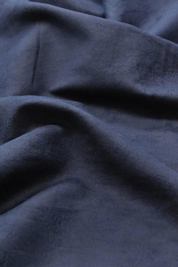Лен с вышивкой темно-синий (4516) - Фото 6