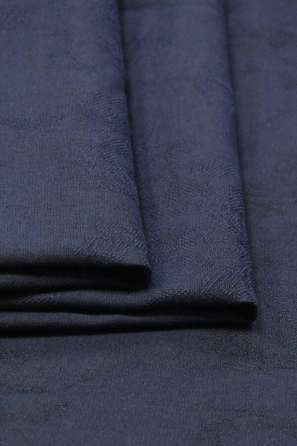 Лен с вышивкой темно-синий (4516) - Фото 8