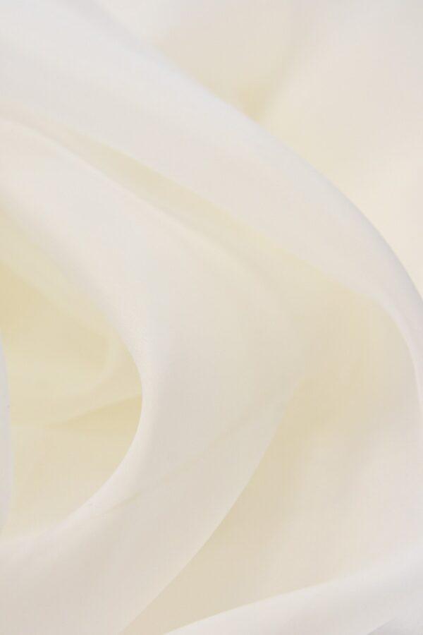 Органза шелковая свадебная молочный оттенок (4536) - Фото 7