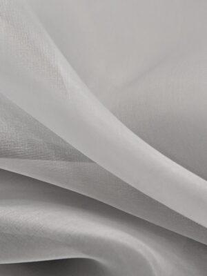 Органза шелковая серая (4538) - Фото 10