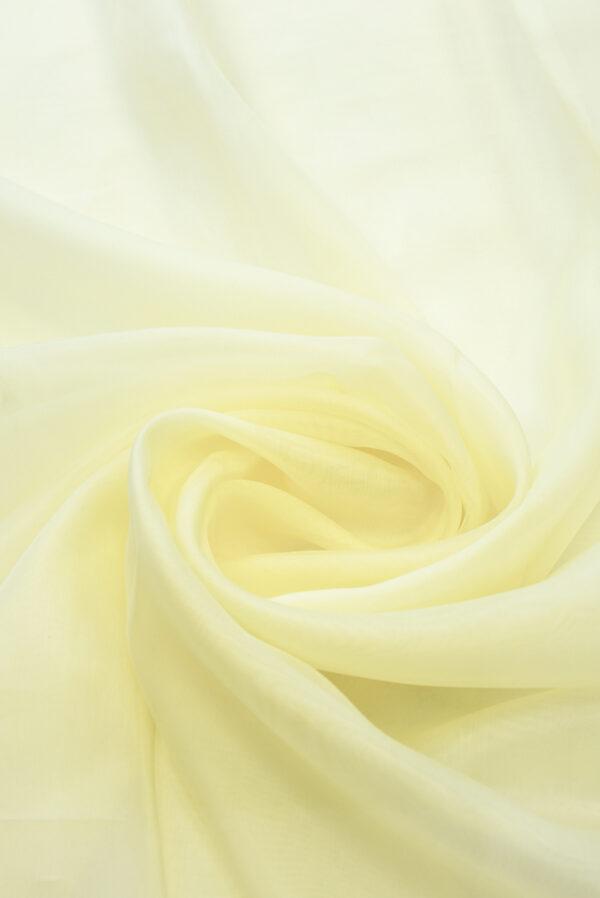 Органза шелковая оттенок ванильный (4541) - Фото 7