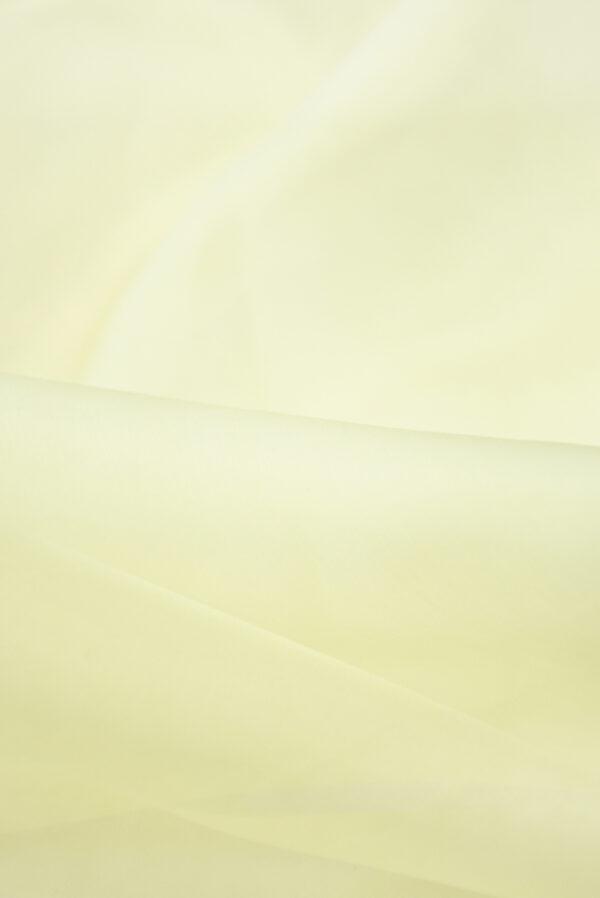 Органза шелковая оттенок ванильный (4541) - Фото 10