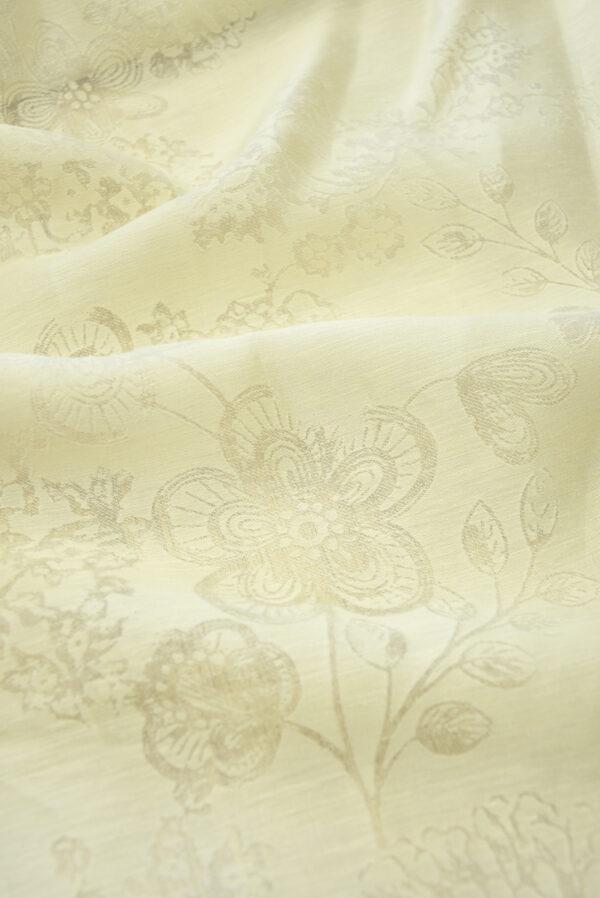 Органза деворе светло-бежевый оттенок и цветочный узор (4551) - Фото 7