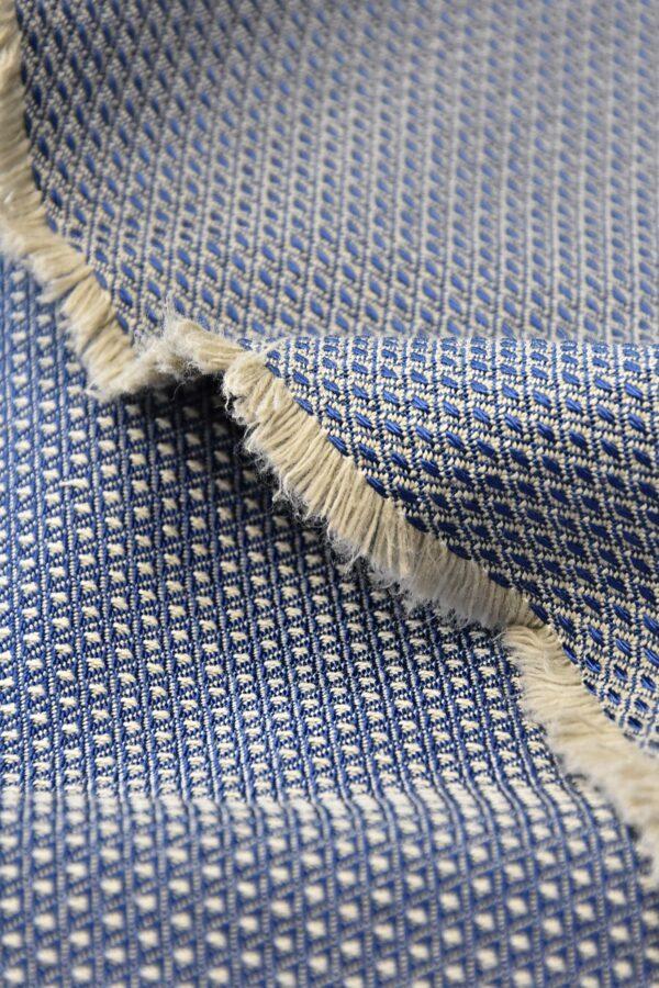 Жаккард стрейч двухсторонний в мелкий ромбик (4557) - Фото 7