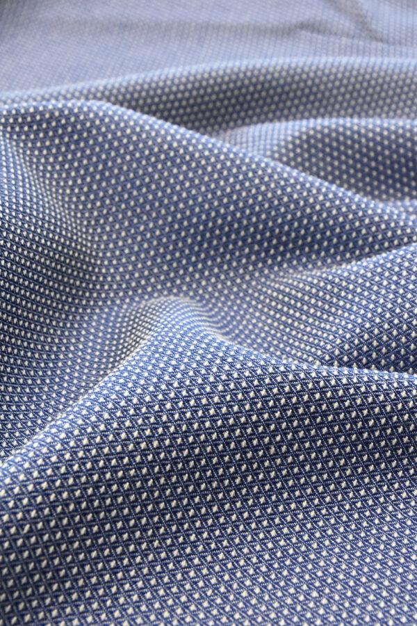Жаккард стрейч двухсторонний в мелкий ромбик (4557) - Фото 6