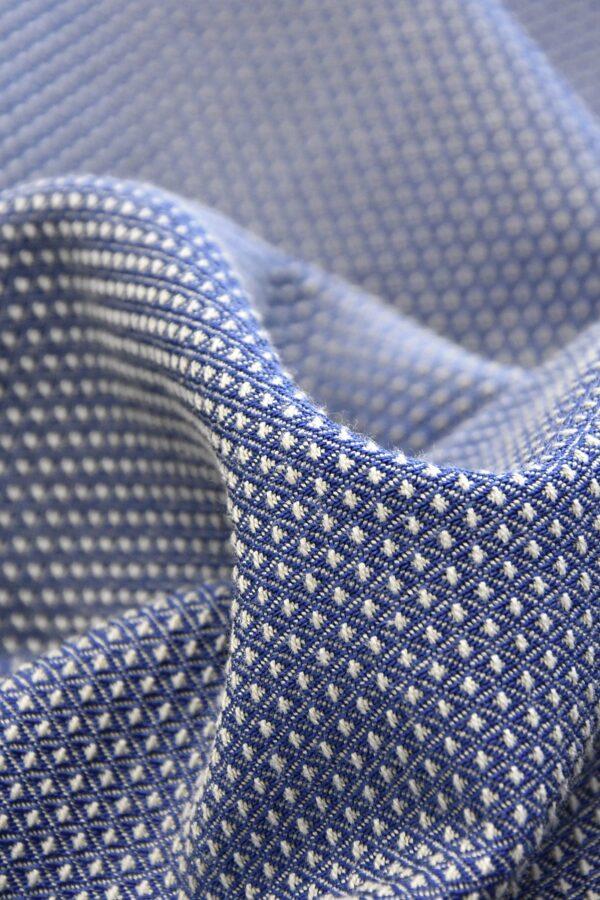 Жаккард стрейч двухсторонний в мелкий ромбик (4557) - Фото 8