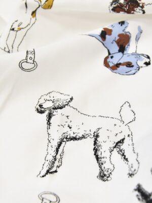Штапель собаки на белом голубая кайма (4561) - Фото 20
