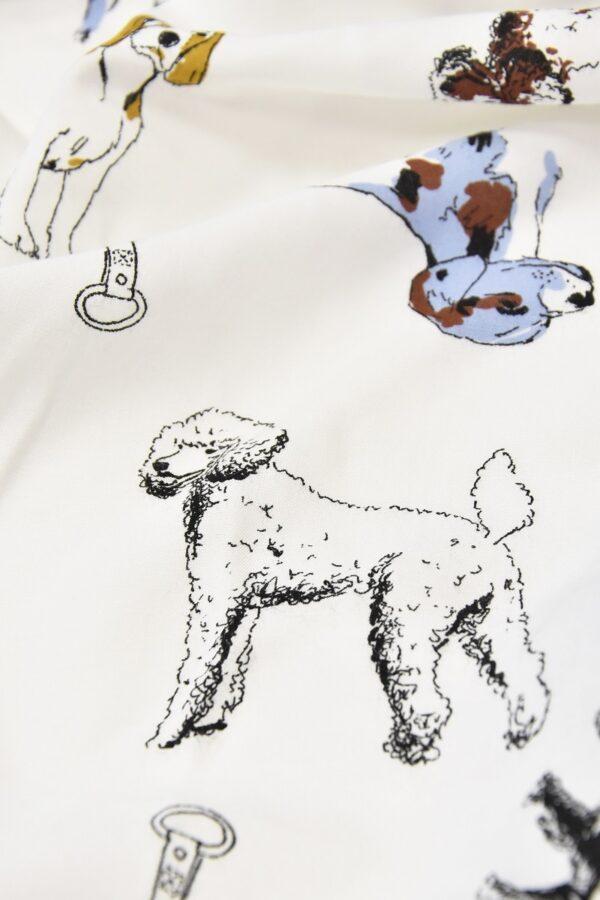 Штапель собаки на белом голубая кайма (4561) - Фото 7