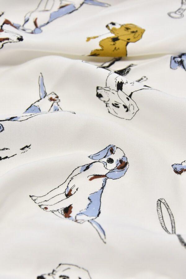 Штапель собаки на белом голубая кайма (4561) - Фото 10