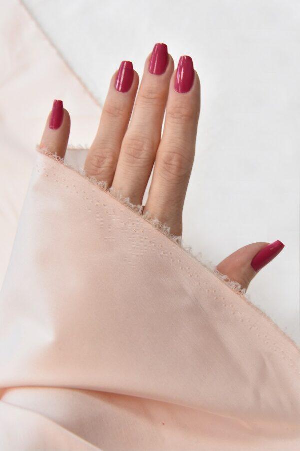 Тафта стрейч светло-розовая (4577) - Фото 9