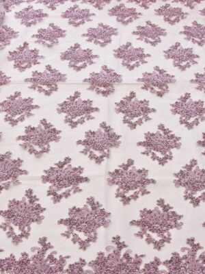 Вышивка на сетке флористический узором пыльная роза (4578) - Фото 18