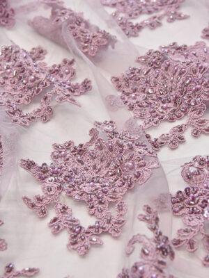 Вышивка на сетке флористический узором пыльная роза (4578) - Фото 19