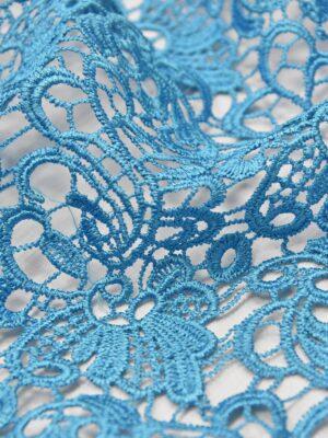 Кружево макраме голубое (4591) - Фото 15