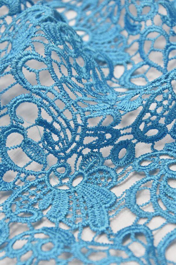 Кружево макраме голубое (4591) - Фото 7