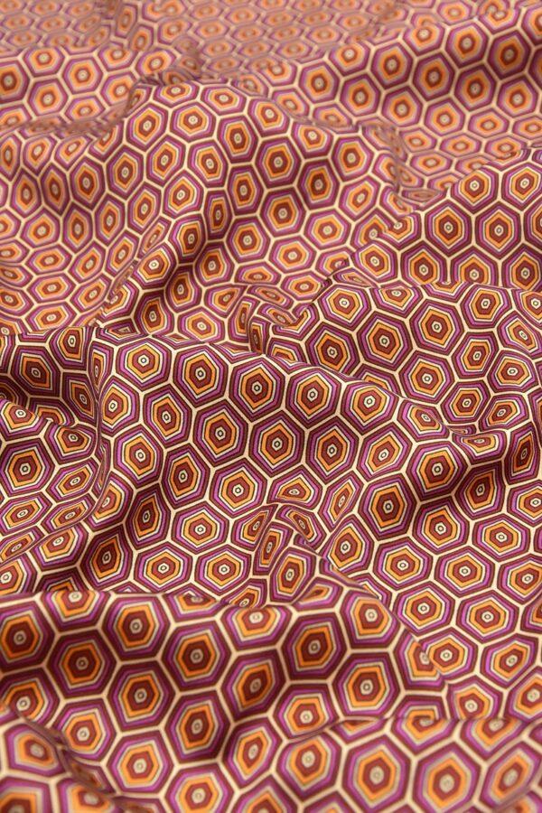 Атлас терракотовый ромбы (4603) - Фото 6